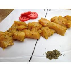 Pinchos marinados de pollo